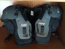 Youth football pads in Oswego, Illinois