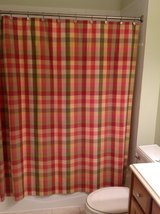 Custom Shower Curtain from Calico Corners - Green/Yellow/Pink in Plainfield, Illinois