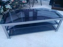 "Black Busch Glass & Chrome 60"" Flat Screen TV  Stand in Fort Campbell, Kentucky"