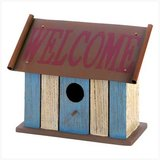 "Designer Birdhouse: ""Striped Welcome"" 12581 New in Tacoma, Washington"