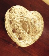 Crystal Heart Covered Trinket Box in Aurora, Illinois