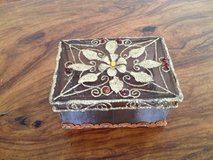 Two keepsake boxes (one of carved rosewood with gold inlay) in Stuttgart, GE