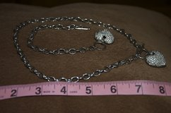 Rhinestone heart necklace and bracelet in St. Charles, Illinois