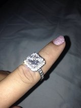 3 carat Cushion cut costume ring in Fort Bliss, Texas