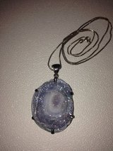 Genuine Druzy Quartz and sterling silver pendant in Fort Bliss, Texas