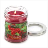 45-hrs Soy Scented Lidded Jar Candle ~ Holly Berries ~ New in Tacoma, Washington