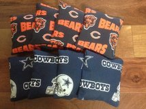 CORNHOLE Bags 4 Chicago Bears/ 4 Dallas Cowboys Approximately 16oz. in Chicago, Illinois