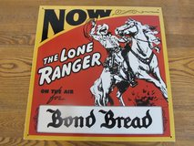 Reduced~Metal Sign~The Lone Ranger.  Vintage Reproduction in Yorkville, Illinois
