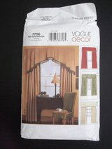 Vogue Decor Pattern 7756 Uncut FF USA 2003 Panel Window Treatments Cornice Drapes Valance in Aurora, Illinois