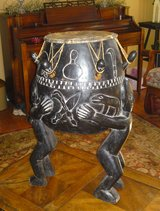 VERY LARGE HANDMADE AFRICAN DRUM in Camp Lejeune, North Carolina