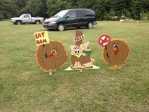 Turkey's with Pigs Tied up in Fort Polk, Louisiana