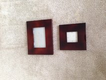 Brown lacquer frames 3x3 & 4x6 from zglallerie in Yorkville, Illinois