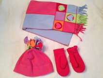 Like NEW!!! Girls Hat, Scarf & Mittens Set in Bolingbrook, Illinois