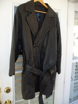*REDUCED* MEN'S LEATHER COAT (BELTED) in Beaufort, South Carolina