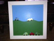 Pottery Barn Kids Wood Framed Magnetic Chalkboard w/ Car Magnets in Lockport, Illinois
