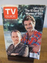 TV Guide Magnum P.I January 1982 in Chicago, Illinois