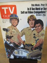 Reduced~TV Guide Cast of Chip's~Jan 1982 in Aurora, Illinois