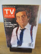 Reduced~TV Guide Dan Rather~May 1981 in Aurora, Illinois