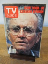 Reduced~TV Guide Henry Fonda by Katharine Hepburn~Jan 1982 in Aurora, Illinois