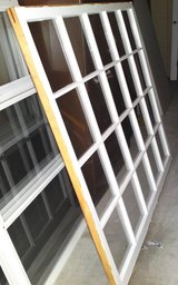 Large Wood Pane Window 60 x 54(think greenhouse) in Camp Lejeune, North Carolina