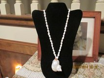 Polished Capiz Shell Pendant Necklace in Houston, Texas