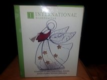 International Silversmiths Stained Glass Christmas Angel With Horn Votive Holder (T=31) in Fort Campbell, Kentucky