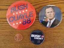 Reduced~Bush Political Pins~Vintage~Reduced in Yorkville, Illinois
