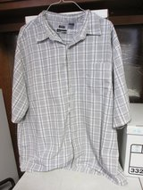 Grey/White Plaid dress shirt by George - 3 XL in Naperville, Illinois