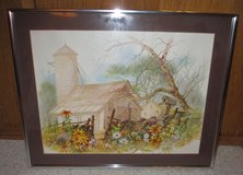 Print of a Barn in Lockport, Illinois