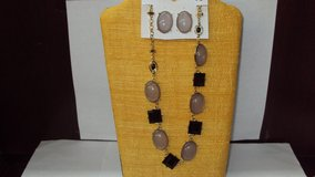 Black & Gray Necklace and Earrings Set in The Woodlands, Texas