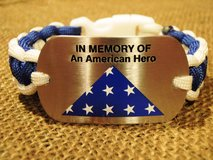 """""""In Memory of an American Hero"""" Dog Tag Paracord Bracelet in Quantico, Virginia"""