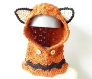 Crochet Hooded Fox Cowl - Toddler to Adult Sizes in Fort Lewis, Washington