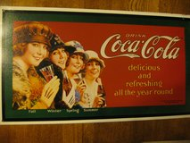 Drink Coca-Cola Fall, Winter, Spring, Summer Sign in Morris, Illinois