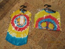"2 Matching Doggie Tie-Dyed Peace Sign Tee Shirts By ""Casual Canine"" in Kingwood, Texas"