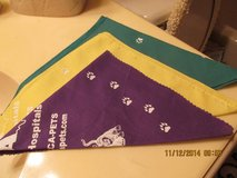 3 Colorful Doggie Bandanas in Kingwood, Texas
