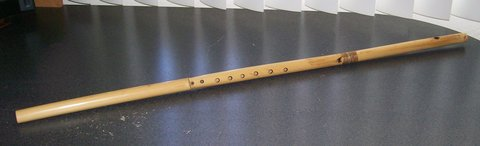 bamboo whistle flute in 29 Palms, California