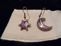 Porcelain Star and Moon Earrings in Spring, Texas