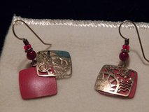 Gold/Red Earrings in Spring, Texas