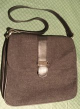 Charcoal Gray Black Wool Purse in Yorkville, Illinois
