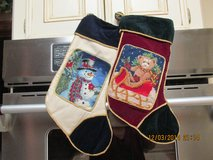 Heirloom Christmas Needlepoint Stockings -- Greatly REDUCED! in Houston, Texas
