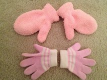 Baby Girl Mittens & Gloves 6-12 mos. in Bolingbrook, Illinois