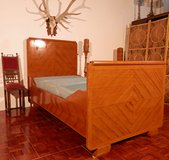 Antique Country Style Twin  Bed with Diamond Pattern, in Ramstein, Germany
