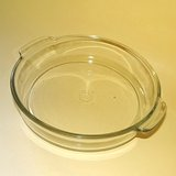 "VTG PYREX #221 ROUND BAKING PAN, 8-1/4"",  1939-50 CLEAR in Aurora, Illinois"