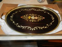 Vintage Inlay wood serving tray in Chicago, Illinois