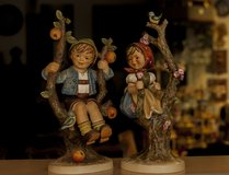"Hummel""APPLE TREE BOY and Girl ""Figurine #141V and142V 10-1/4""high TMK 4 in Ramstein, Germany"