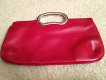 "RED 12""W Faux Leather Clutch Purse in Lockport, Illinois"