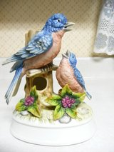 "Vintage Musical 6"" Blue Bird & Baby Bird in Fort Riley, Kansas"
