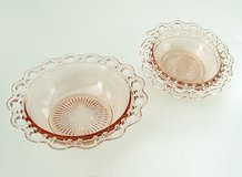3 OLD COLONY PINK DEPRESSION GLASS BOWLS - 1 serve & 2 salad - HOCKING in St. Charles, Illinois