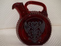 Red Sterling Glass Decanter in Beaufort, South Carolina
