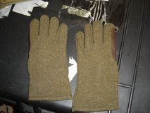 Vintage wool and leather gloves in Camp Lejeune, North Carolina